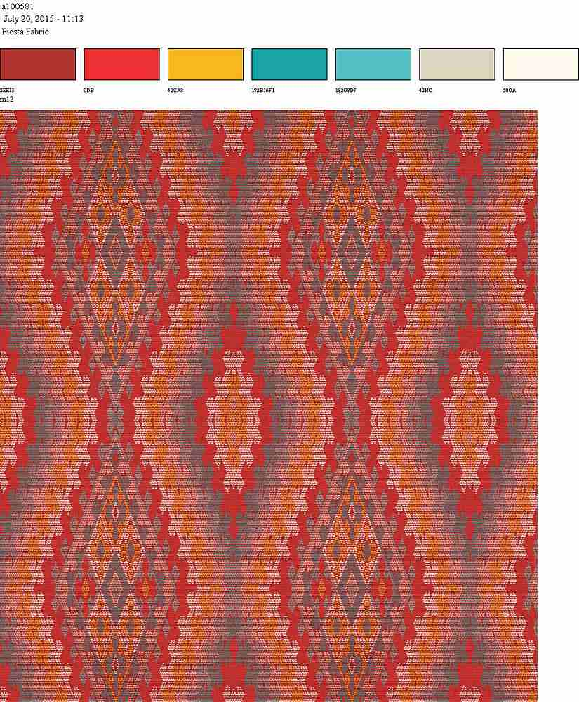 206-A100581-35 / FIRE BRICK         / 100% Rayon Challis Print