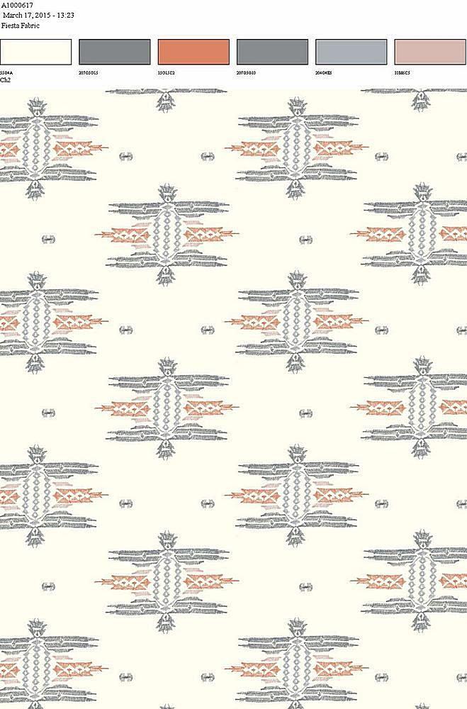 206-A100617-35 / OFFWHITE/RED          / 100% Rayon Challis Print