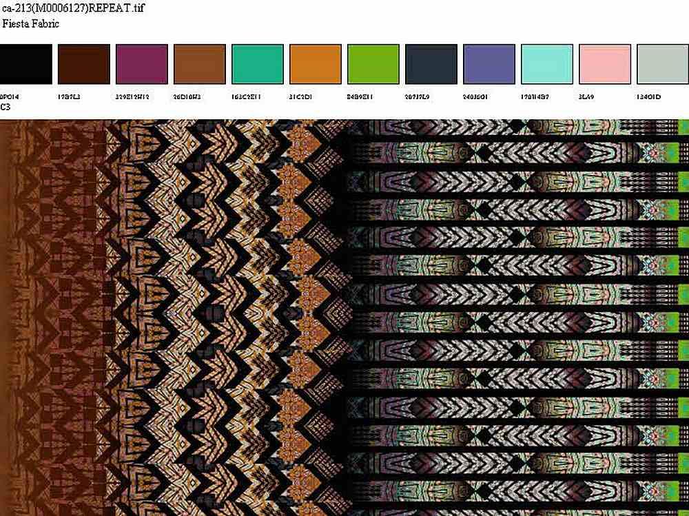 CA-213-35 / RUST         / 100% Rayon Challis Print
