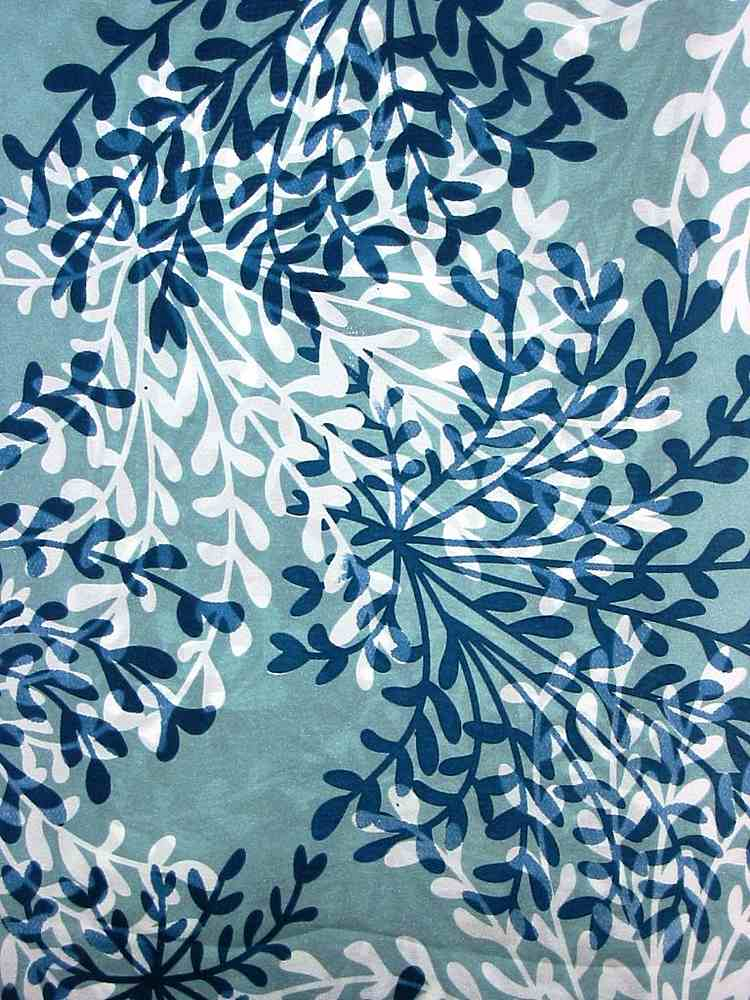 SO 2034 / TEAL         / 4 SILK HABOTAI PRINT 8 M/M
