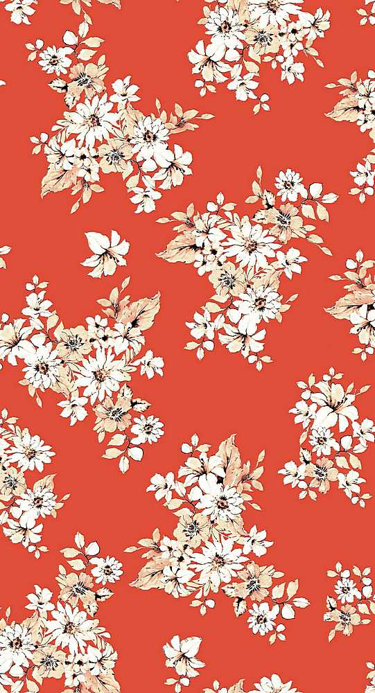 206-A100408-35 / TOMATO RED         / 100% Rayon Challis Print