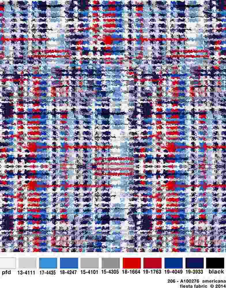 206-A100276-30 / AMERICANA         / Rayon Spandex Jersey Print 180gsm