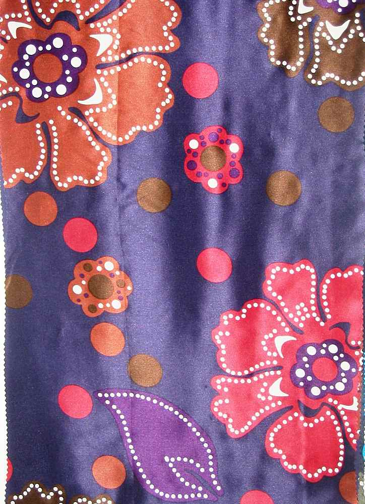 FIE-2006-202 / #1 PURPLE                 / SILK CHARMEUSE PRINT 12 M/M