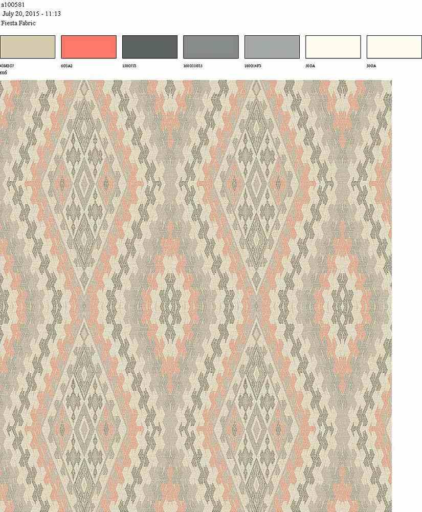 206-A100581-64 / THISTLE/CORAL                   / 100% Rayon Gauze Print
