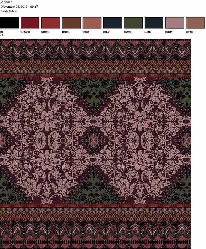 206-A100696-30 / DUSTY MAUVE         / Rayon Spandex Jersey Print 180gsm