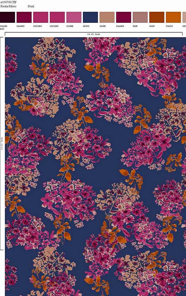 206-A100700-30 / TEAL MULTI         / Rayon Spandex Jersey Print 180gsm