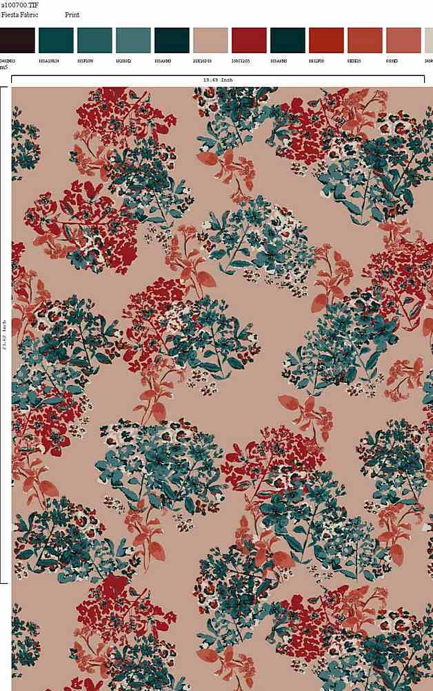 206-A100700-30 / BLUSH MULTI         / Rayon Spandex Jersey Print 180gsm