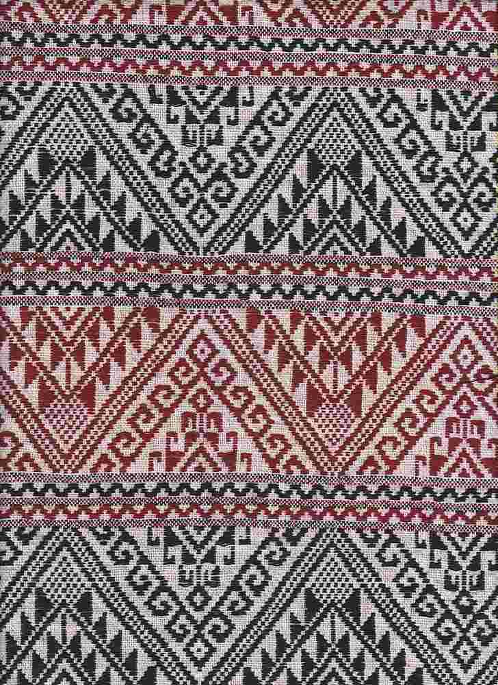 2537-64 / RED         / 100% Rayon Gauze Print