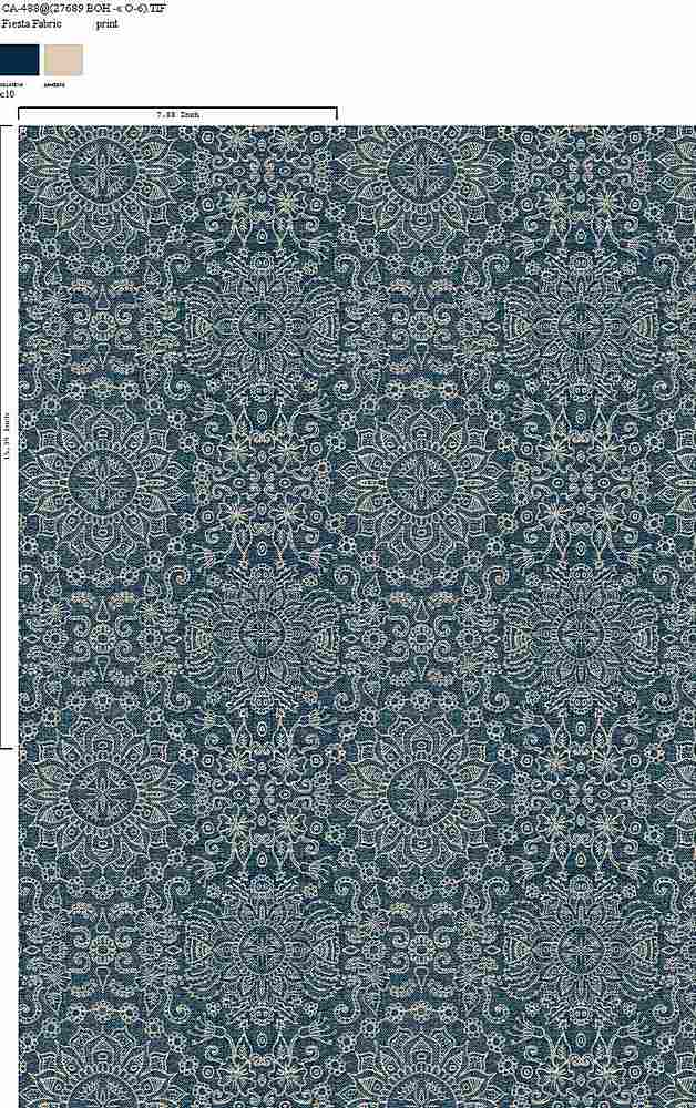 CA-488-64 / C10         / 100% Rayon Gauze Print