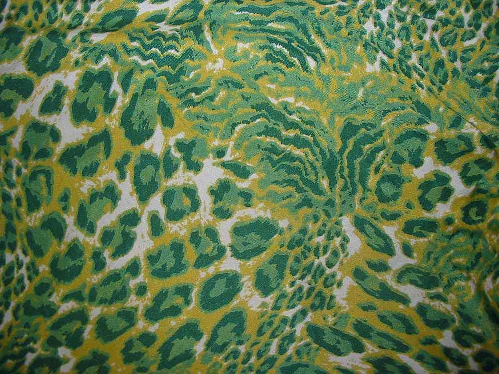 XDB08D912-3-5 / GREEN                 / 100% SILK JERSEY PRINT  125 G