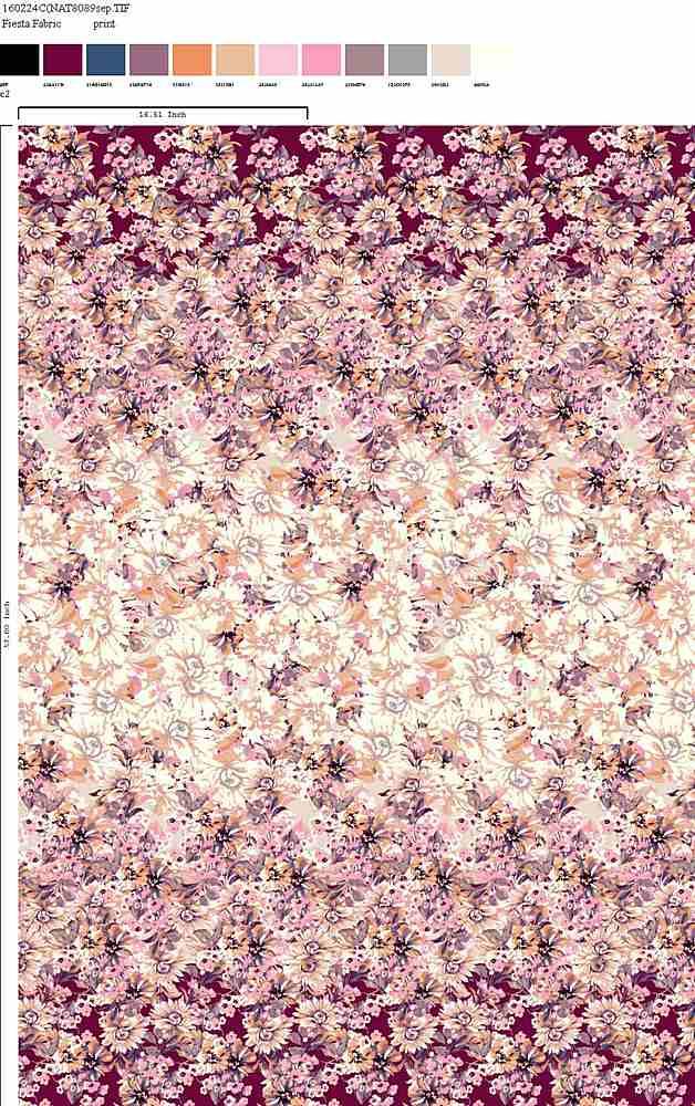 160224-35 / C2         / 100% Rayon Challis Print