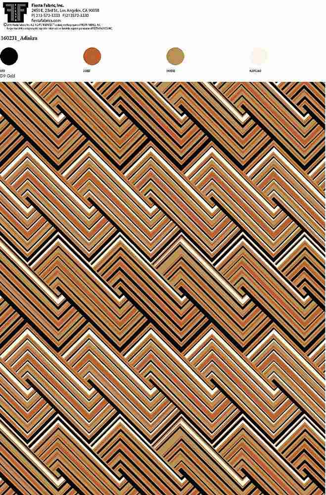 160231-30 / D9 GOLD         / Rayon Spandex Jersey Print 180 Gsm