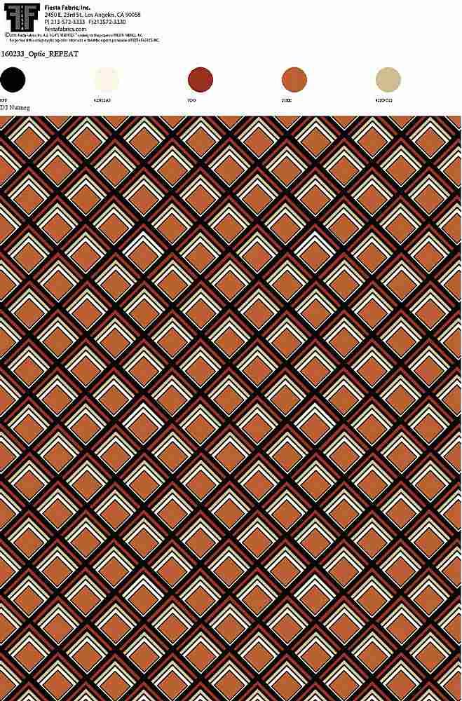 160233-64 / D3 NUTMEG         / Rayon Gauze Print