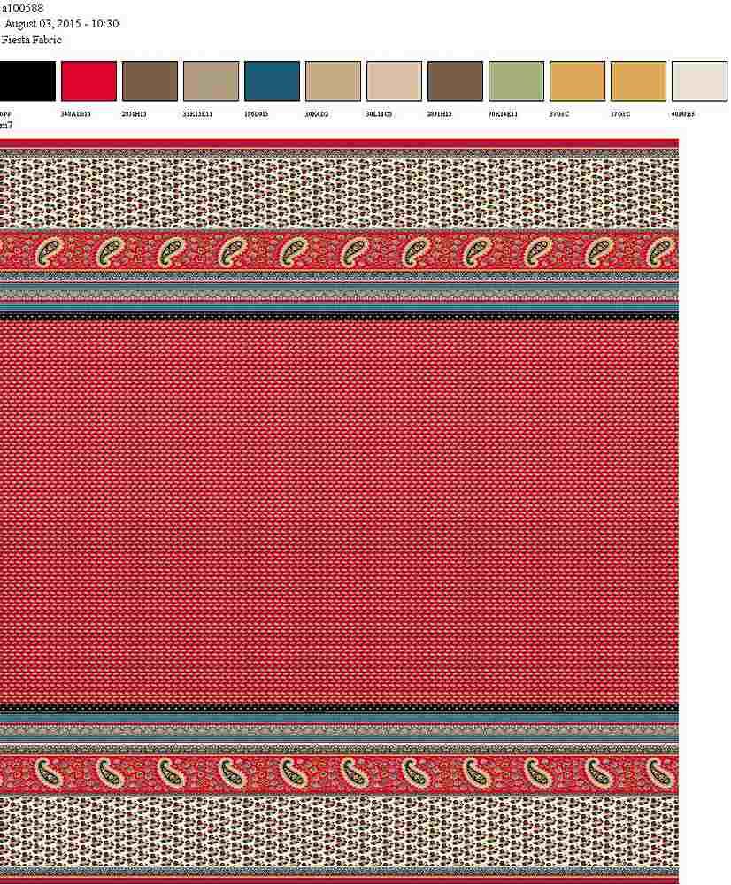 206-A100588-64 / RED                 / 100% Rayon Gauze Print