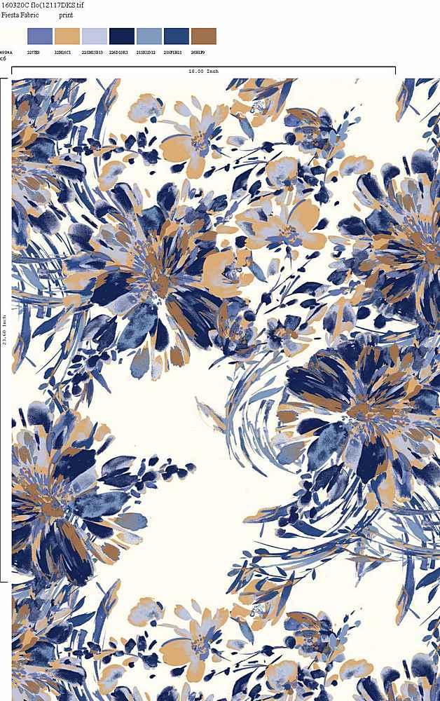 160320-35 / C6                 / 100% Rayon Challis Print 80gsm