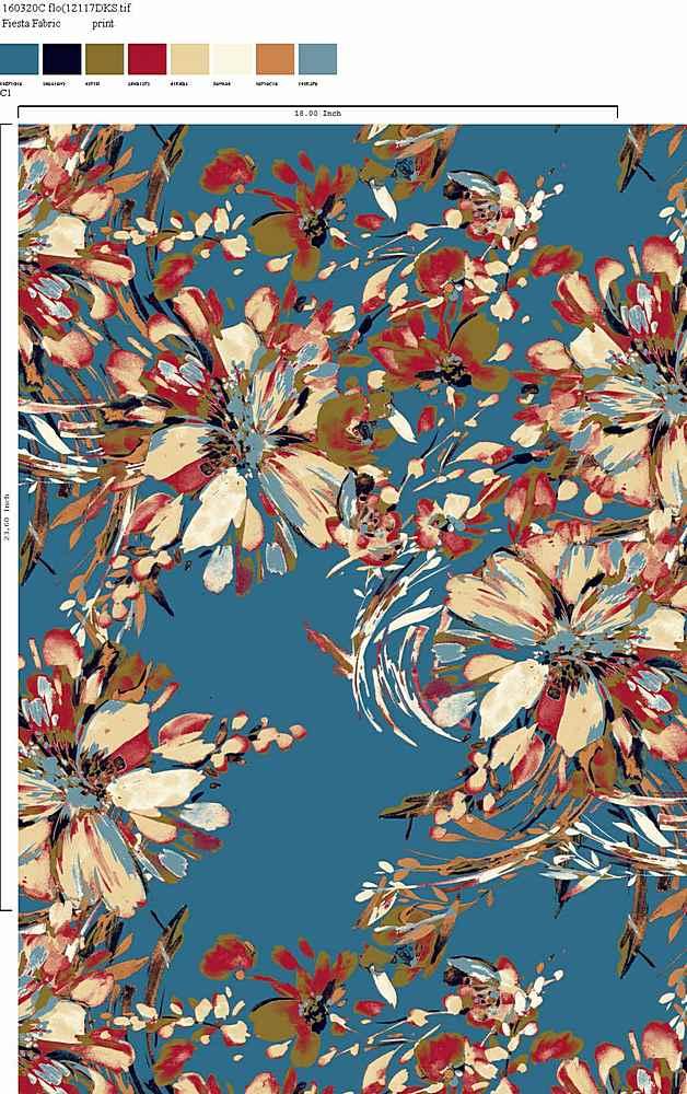 160320-30 / C1         / Rayon Spandex Jersey Print 180gsm
