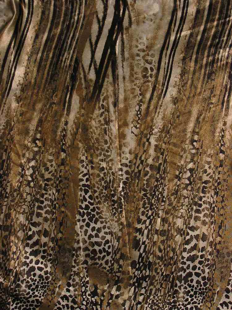 FIE-206-669-11 / BROWN         / POLYESTER ITY PRINT