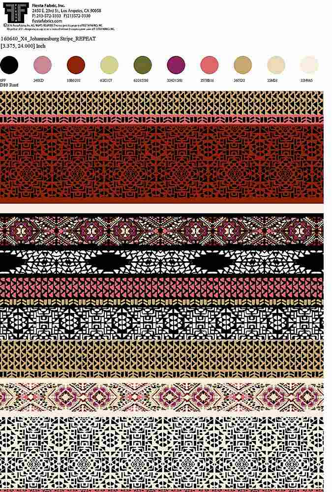 160640X4-30 / RUST         / Rayon Spandex Jersey Print 180gsm