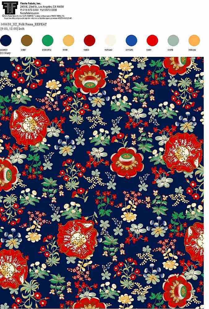 160638X2-64 / NAVY         / 100% Rayon Gauze Print