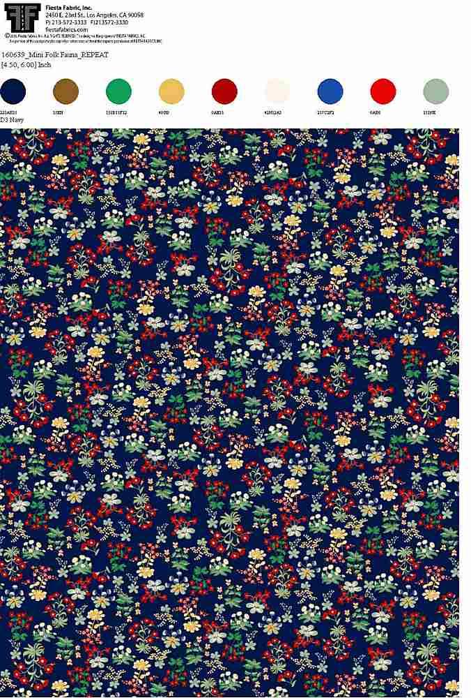 160639-64 / NAVY         / 100% Rayon Gauze Print