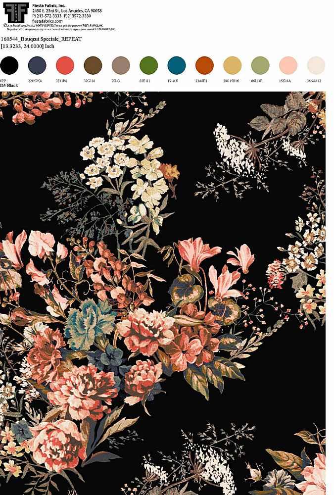 160544-30 / BLACK         / Rayon Spandex Jersey Print 180gsm