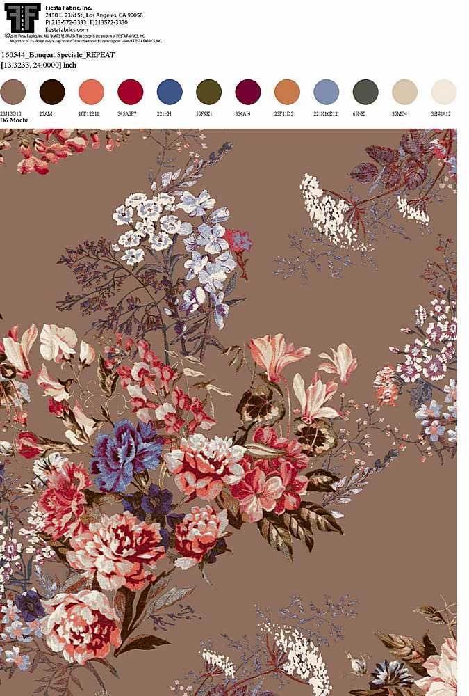 160544-30 / MOCHA                 / Rayon Spandex Jersey Print 180gsm