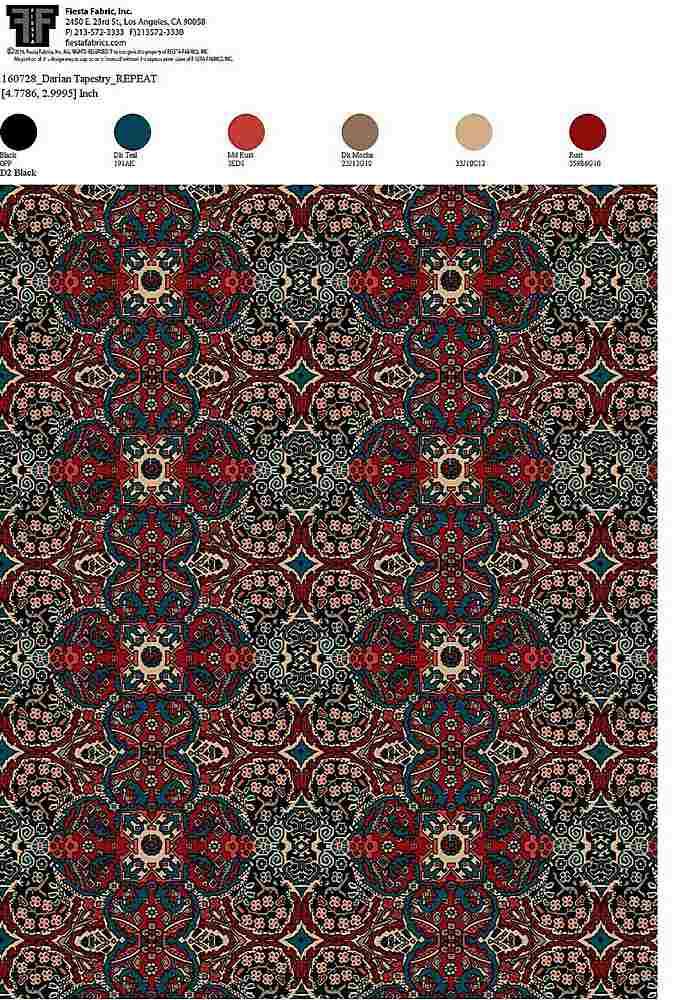 160728-64 / BLACK         / 100% Rayon Gauze Print