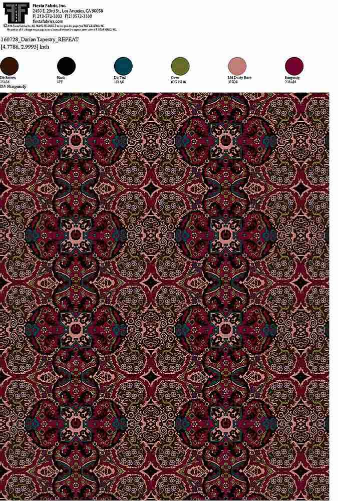 160728-64 / BURGUNDY         / 100% Rayon Gauze Print