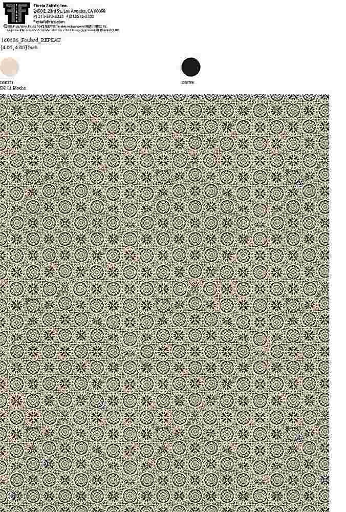 160606-35 / MOCHA         / 100% Rayon Challis Print