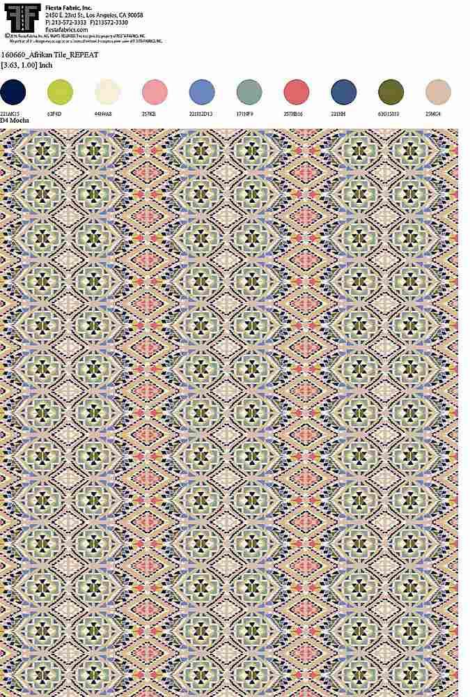 160660-64 / MOCHA / 100% Rayon Gauze Print