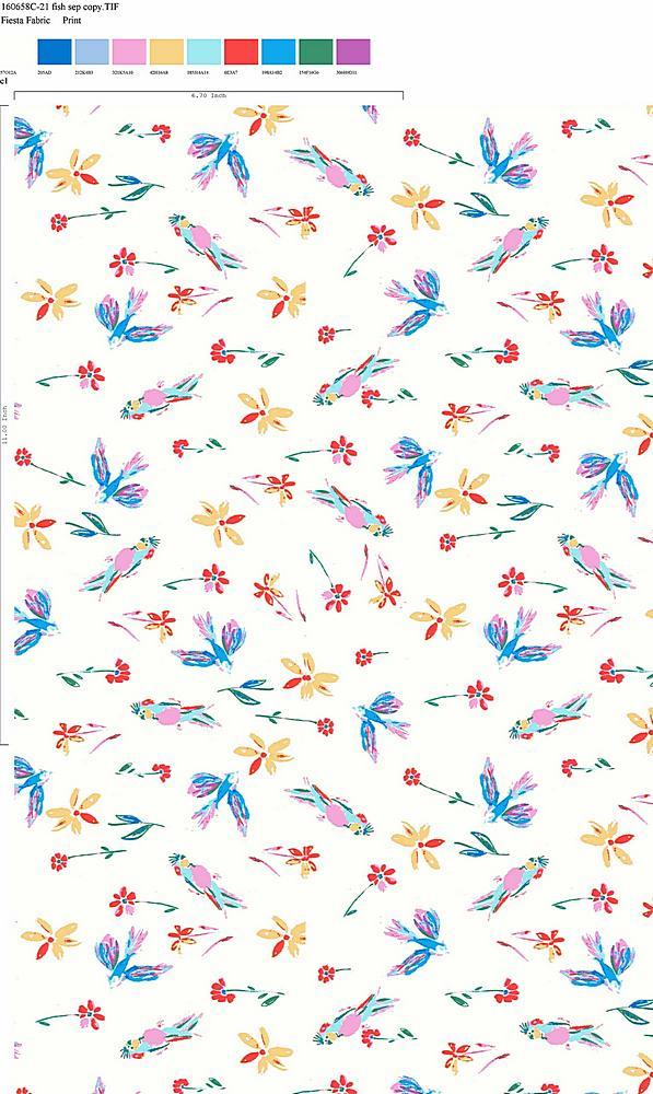 160658-35 / C1 / 100% Rayon Challis Print