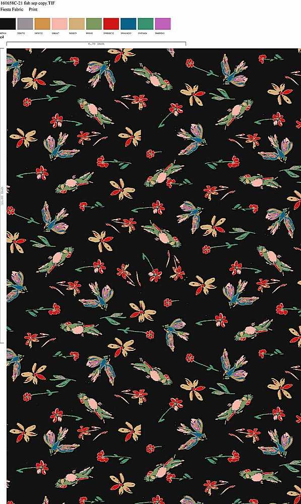 160658-35 / C4                 / 100% Rayon Challis Print