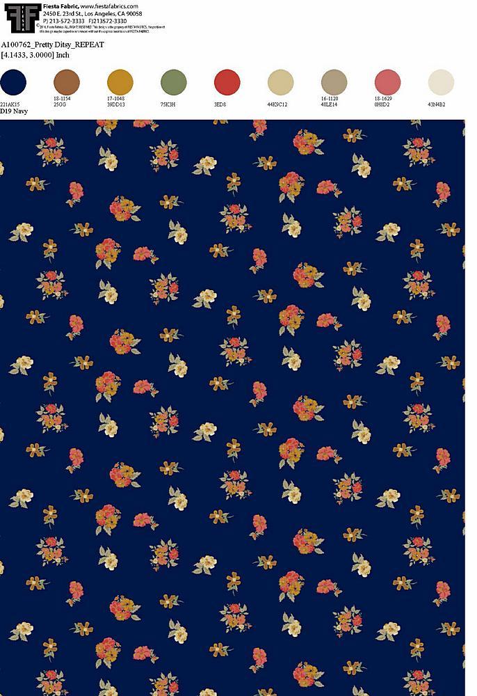 206-A100762-30 / NAVY         / Rayon Spandex Jersey Print 180gsm