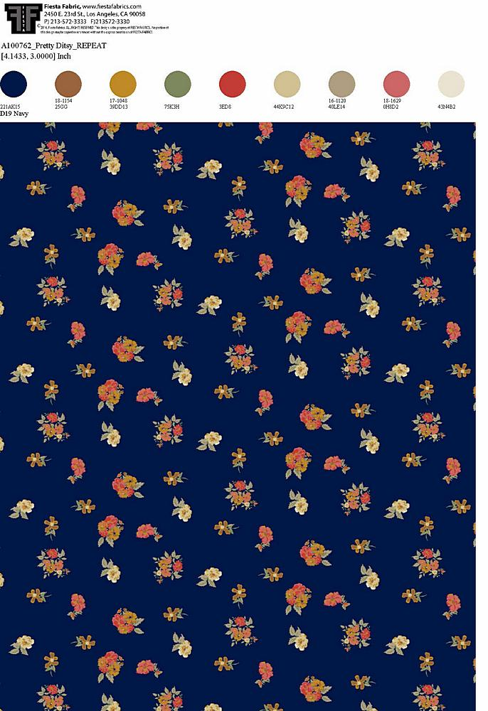 206-A100762-30 / NAVY         / Rayon Spandex Jersey Print 180gsm