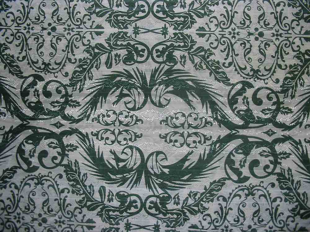 #678 / GREEN                 / SILK/COTTON JACQUARD PRINT