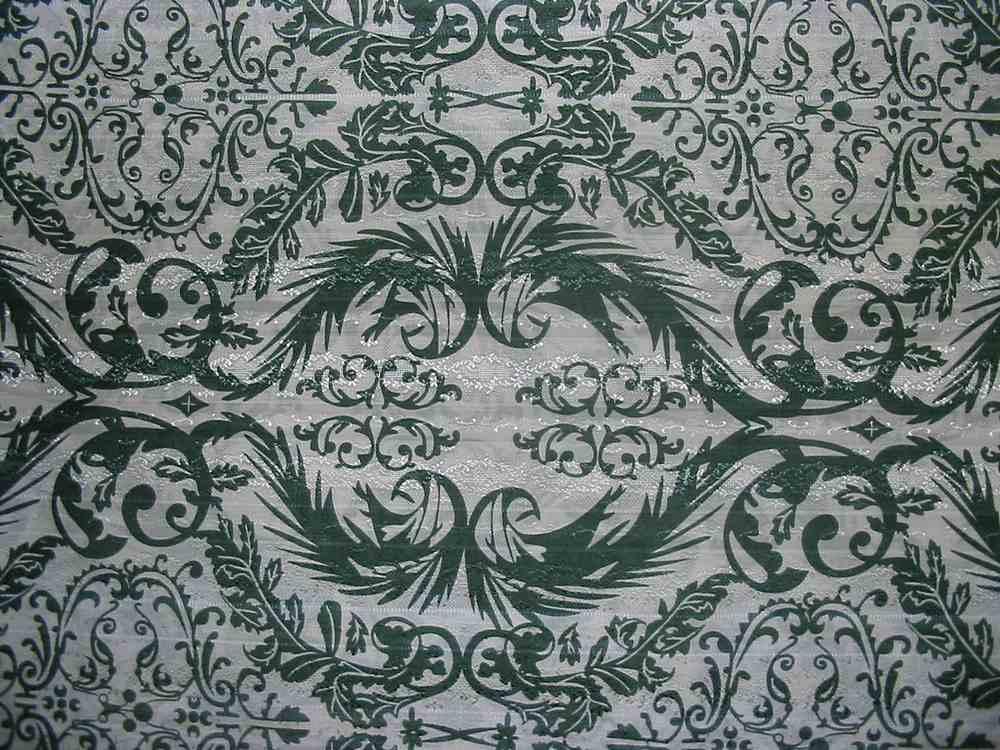 #678 / GREEN                 / SILK/COTTON JACQUARD PRINT