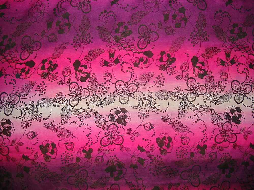 FIE-2006-190 / #1                 / SILK/COTTON VOILE PRINT 9 M/M