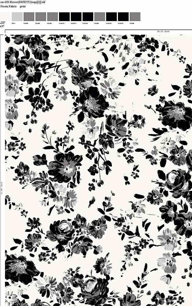 CA-409-30 / C37                 / Rayon Spandex Jersey Print 180gsm