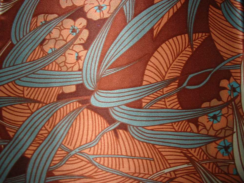 FIE-206-449 / BROWN         / Silk Charmeuse Print,
