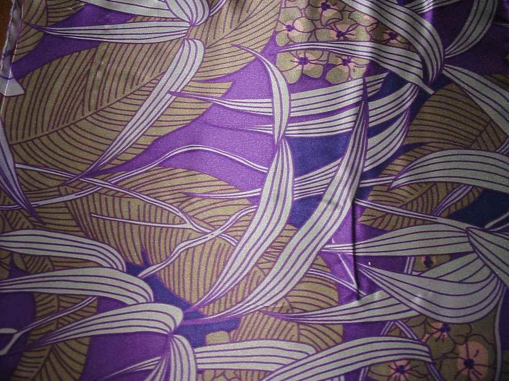 FIE-206-449 / PURPLE         / Silk Charmeuse Print,