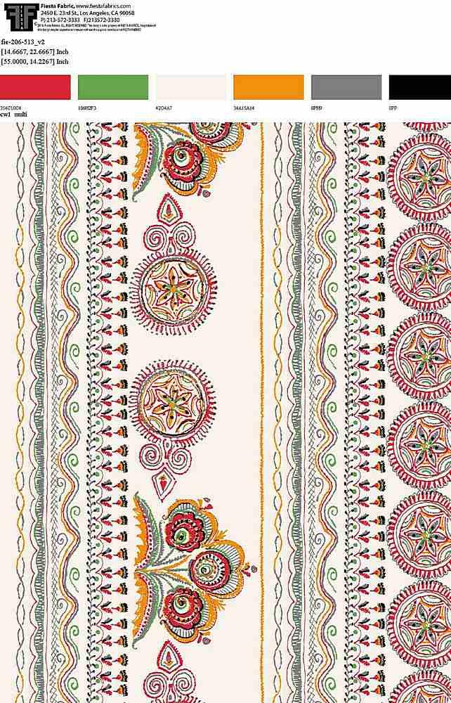 FIE-206-513-64 / CW1 MULTI         / Rayon Gauze Print