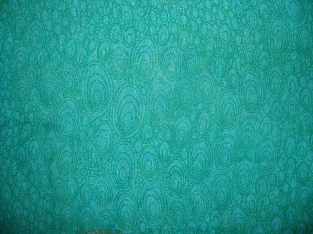 FIE-206-446-4 / 5 TEAL     / SILK/COTTON VOILE PRINT 9 M/M