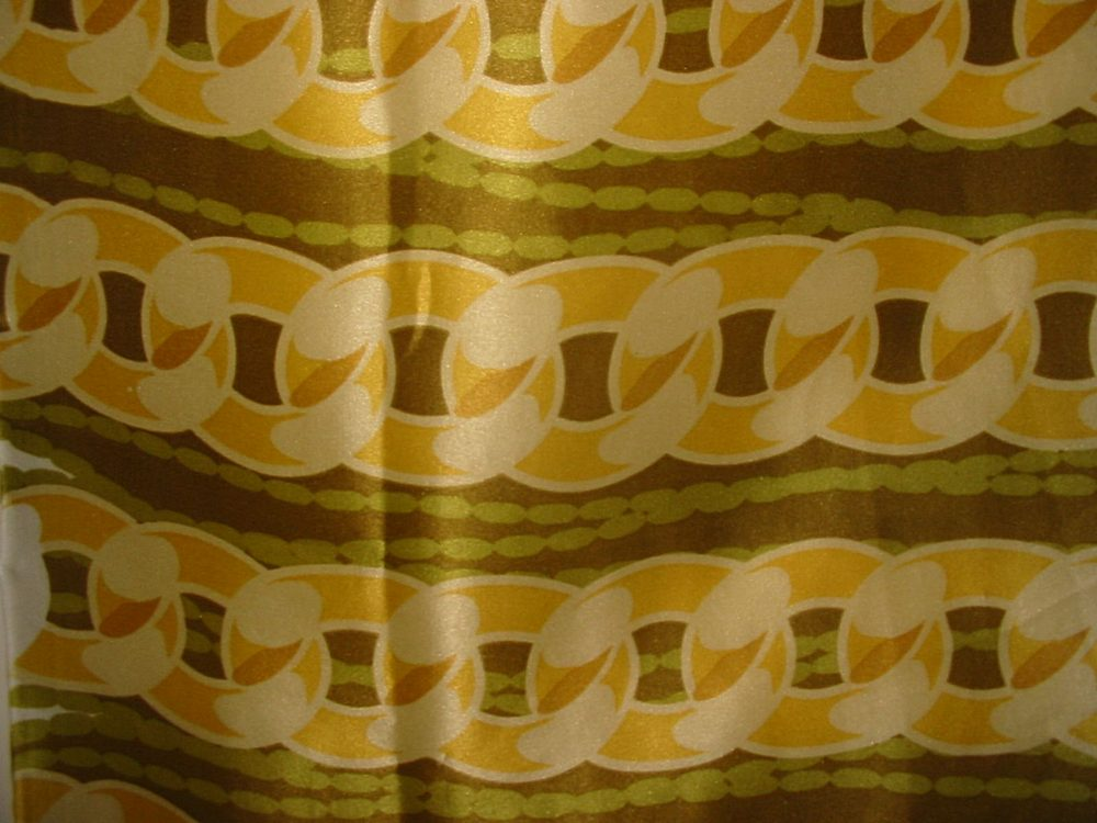 FIE-206-456 / #1 GREEN/YELLOW / 5 SILK CHARMEUSE PRINT 16 M/M