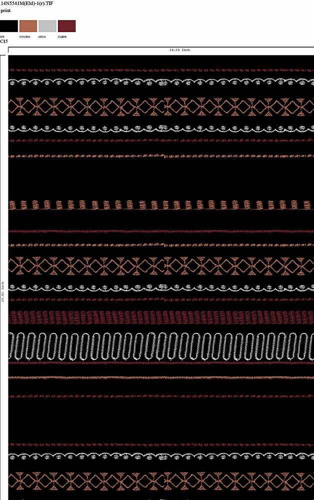 14N5541M-1R-64 / C15                 / RAYON GAUZE PRINT