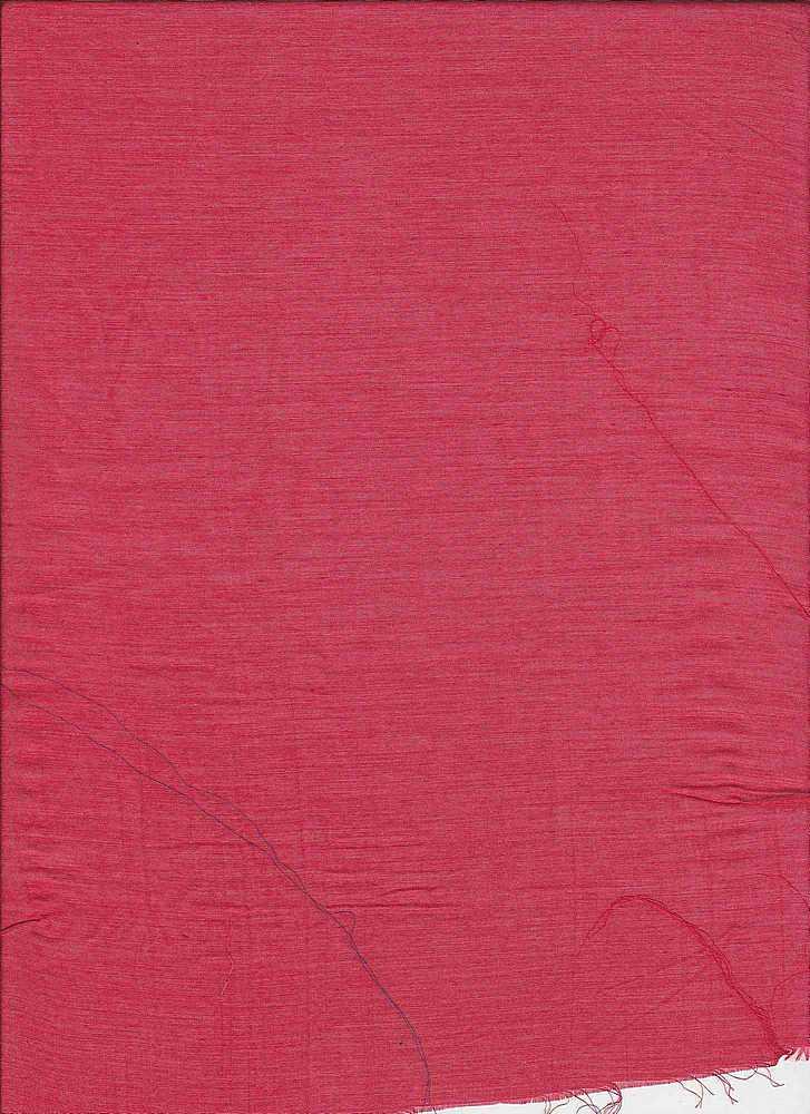 SILK/COTTON / #161 RED         / SILK/COTTON VOILE 9 M/M, 30% SILK/ 70% COTTON