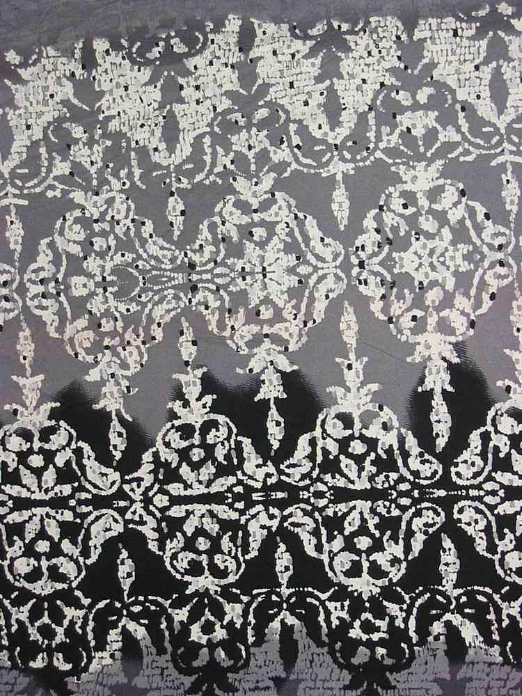 FIE-206-730-5 / CHARCOAL        / 100% Silk Jersey Knit 140g