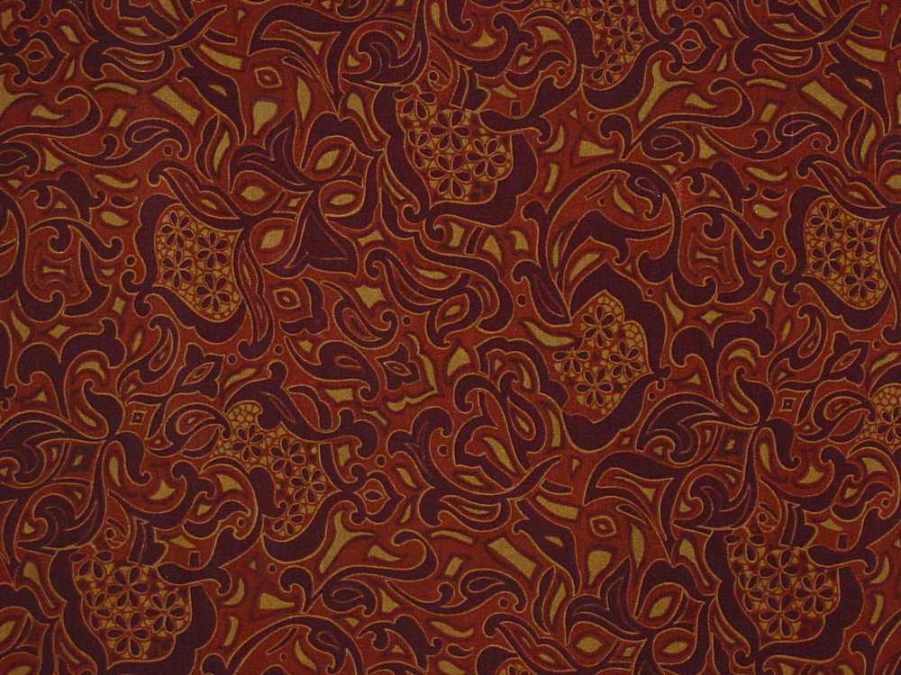 FIE-2006-193C / #6 BURGANDY     / SILK CRINKLE CHIFFON PRINT 6 M/M