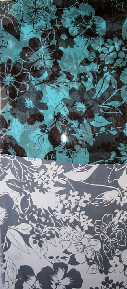 DOGWOOD / BLACK / WHITE         / SILK CHIFFON PRINT 8 M/M