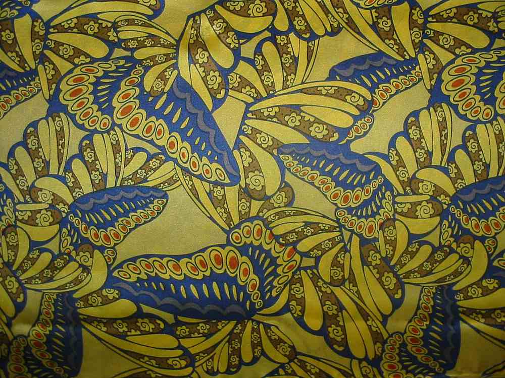 FIE-206-444-2 / YELLOW/ORANGE  / SILK CHARMEUSE PRINT 16 M/M