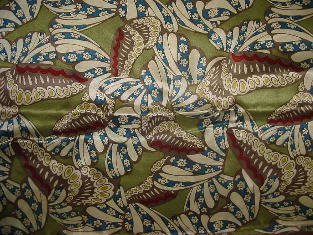 FIE-206-444-4 / GREEN         / 5 SILK/COTTON VOILE PRINT 9 M/M